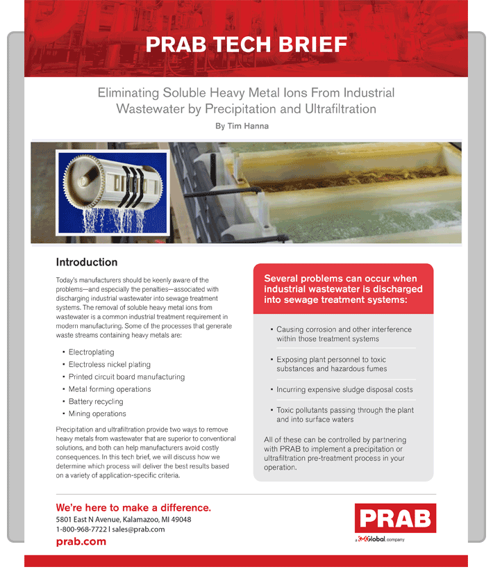 PRAB » Technical Brief: Eliminating Soluble Heavy Metal Ions