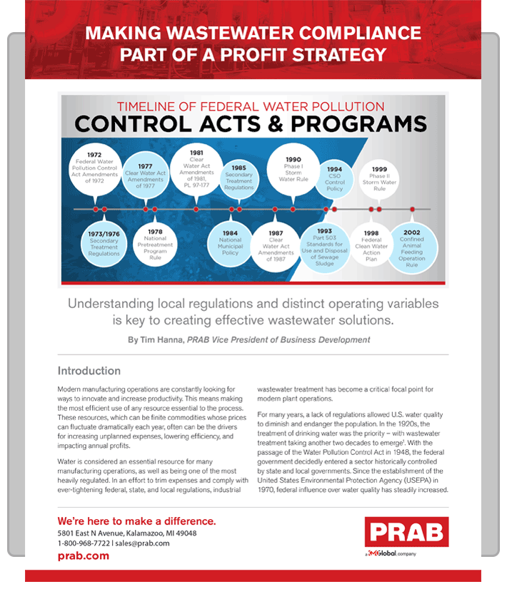 PRAB » White Paper: Making Wastewater Compliance Part Of A