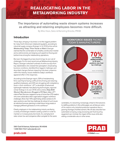 White Paper: Reallocating Labor in the Metalworking Industry | Prab.com