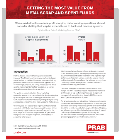 White Paper: Getting the Most Value from Metal Scrap and Spent Fluids | Prab.com