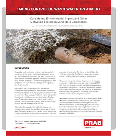 PRAB » White Paper: Taking Control of Wastewater Treatment